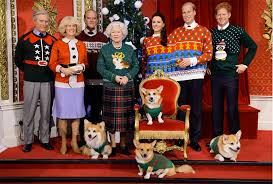 madame tussauds royal family wax figures christmas sweaters time