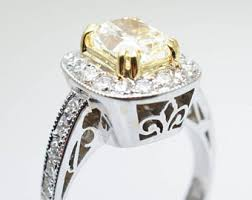 canary yellow engagement rings yellow moissanite engagement ring canary yellow moissanite in