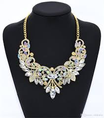 crystal collar statement necklace images 2018 vintage crystal collar chain sparkly rhinestones choker bling jpg