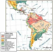 Latin America Physical Map Printable Map Of Climate Map Of Latin America Free Printable