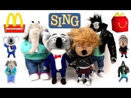 2016 sing plush mcdonald s happy meal toys talking singing