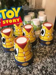 toy story candy jars centerpieces toy story party pinterest
