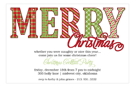 christmas invitations merry christmas pattern words invitations polka dot design