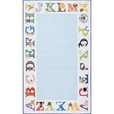 Alphabet Area Rug Alphabet Area Rug Baby Nursery Blue Kids Children Educational Abc