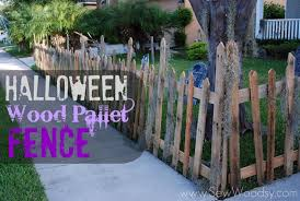 Christmas Fence Decorations Halloween Wood Pallet Fence Sew Woodsy