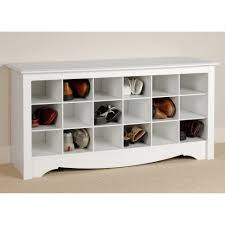 White Shoe Storage Cabinet Bathroom Prepac Winslow White Shoe Storage Cubbie Bench