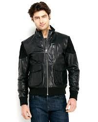 mens black leather motorcycle jacket prps black leather motorcycle jacket in black for men lyst