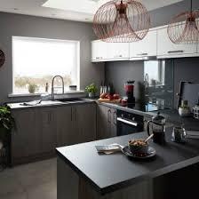 grey kitchen cabinets b q press loft image of goodhome chia grey oak effect slab