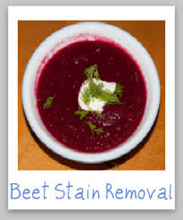 how to remove beet juice stains craft