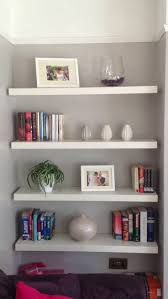 alcove floating shelving in the lounge for the home pinterest