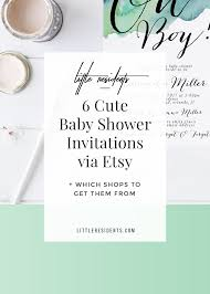6 cute baby shower invitations via etsy little residents