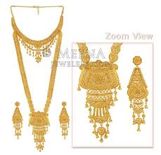 gold har set gold wedding set stbr4419 22kt gold rani har set is a set of 2