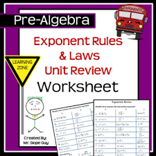 exponent rules u0026 laws unit review pdf worksheet hsn rn a 2 go math