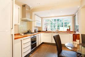 contemporary designer kitchen and breakfast area with modern