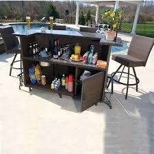 Patio Furniture Bar Set Outdoor Patio Bar Sets Bikepool Co