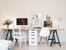 Pinterest Office Desk Stunning 2 Person Desk Ideas Great Office Design Inspiration With