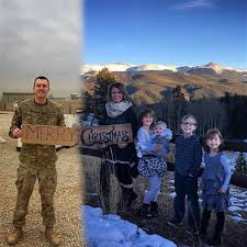 includes deployed husband in family photo