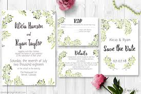 ceremony cards for weddings olive wedding invitation suite amistyle digital