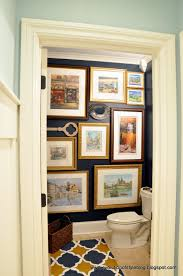 moody blue powder room reveal evolution of style