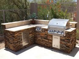 Backyard Bbq Design Ideas Exterior Futuristic Outdoor Barbecue Design With Stone Kitchen