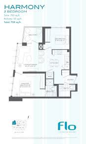 flo condos 2 bedrooms harmony floor plan
