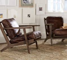 Pottery Barn Leather Raylan Leather Armchair Pottery Barn Pottery Barn Pinterest