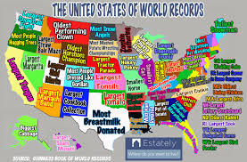 map of us states by world what world records does each u s state hold estately
