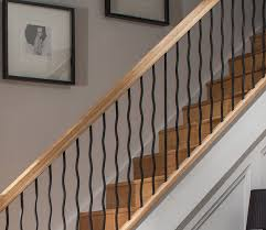 Spindles For Banisters Contemporary Oak Handrail 2 4m For Round Or Wavy Rake Iron