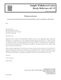 Sample Withdrawal Of Resignation Letter Sample Letter Withdraw Job Acceptance Cover Letter Templates