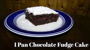 1 pan chocolate fudge cake recipe in 3 easy steps youtube