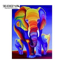 home decor elephants 5d diy diamond painting color elephant crystal diamond painting