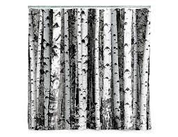 shower curtain birch kikkerland design inc