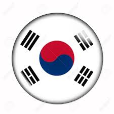 Thailand Round Flag Circular Buttonised Flag Of South Korea Stock Photo Picture And
