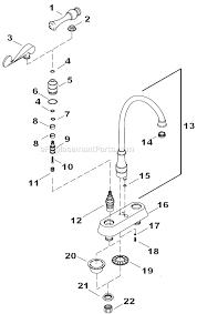 kohler kitchen faucet parts diagram kohler k 16112 4a parts list and diagram ereplacementparts com