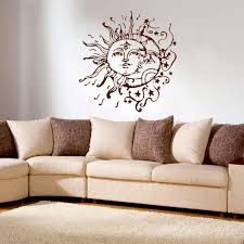 sun moon stars wall decals for bedroom sun and moon wall decal zoom