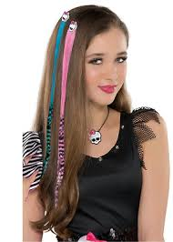pink hair extensions image mh party city pink and blue hair extensions png