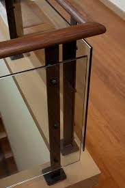 Glass Banister Staircase Glass Stair Railings Staircase Contemporary With None