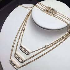 diamond necklace fine jewelry images Messika move diamond necklace in yellow gold paris fine jewelry jpg
