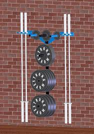 plate hangers for wall mounted plates wall storage plate holder weight rack gym and garage gym