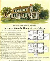 colonial revival house plans 1918 colonial revival style gambrel roof model no 704