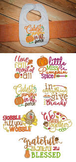 39 best fall thanksgiving embroidery designs images