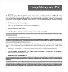 sample change management plan template 11 free documents in pdf