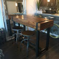 Industrial Bar Table Industrial Style Bar Height Table Our Portfolio Pinterest