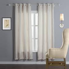 Grommet Top Blackout Curtains Iyuegou Classic Beige Velvet Embossed Floral Energy Saving Grommet