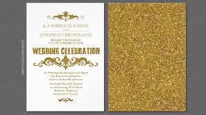 wedding invitations gold read more gold foil faux glitter confetti wedding