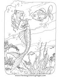 brilliant mermaid coloring pages for adults with regard to