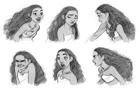 expressões e poses dos personagens maui e moana thecab the