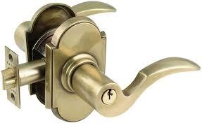 French Door Latch Options - emtek cortina brass keyed lever door handle lock shop lever