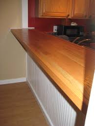 finishing a butcher block bar top dors and windows decoration diy bar top made with plywood oak hardwood flooring nail gun diy butcher block bar top