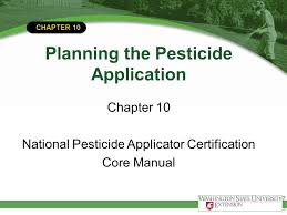 chapter 10 planning the pesticide application chapter 10 national